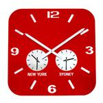 Horloge Retro City de Roco Verre Rouge