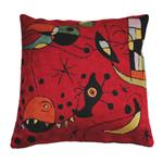 Click here to view Coussin Fait Main Kandinsky Miro de Zaida Rouge