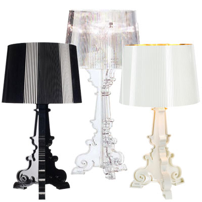 lampe de table bourgie par kartell. Black Bedroom Furniture Sets. Home Design Ideas