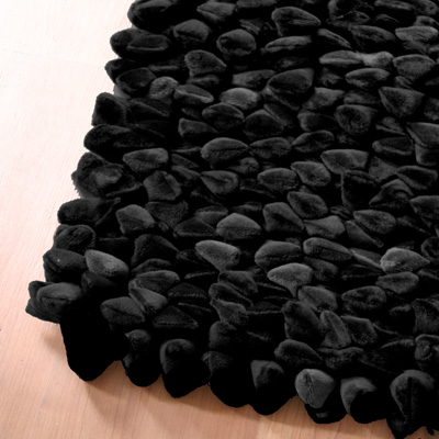 Tapis Chamois Pebble de Dreamweavers Noir