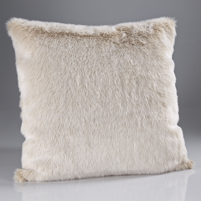 Coussin Beige Frost Fausse Fourrure