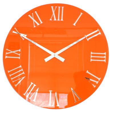 Horloge Romaine en Acrylique Orange de Roco Verre
