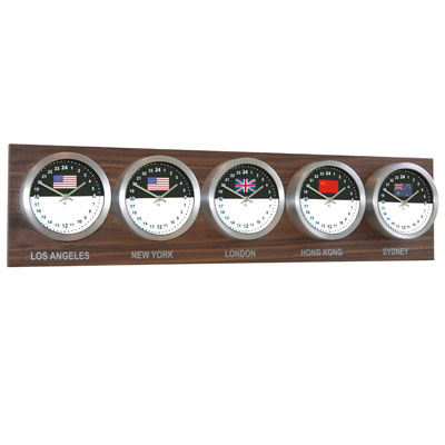 Roco Verre Horloge 5 Zones Personalisable Noyer