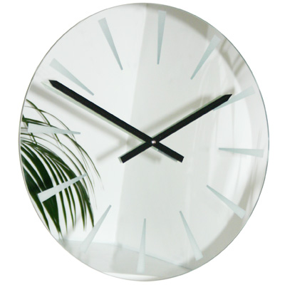 Roco Verre Horloge Mirroir Chevron