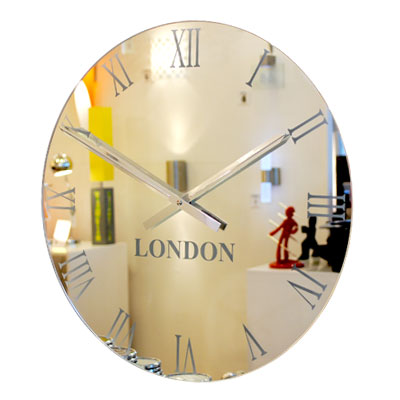 frosted mirror timezone wall clock